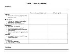 smart goals templates 48 smart goals templates exles worksheets template lab