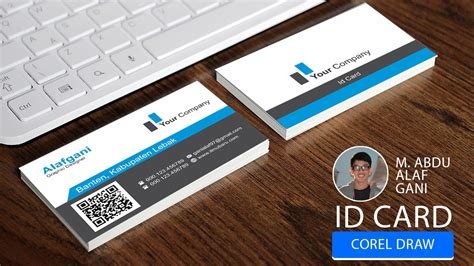how to design identity card using coreldraw tutorial coreldraw bahasa indonesia membuat kartu nama