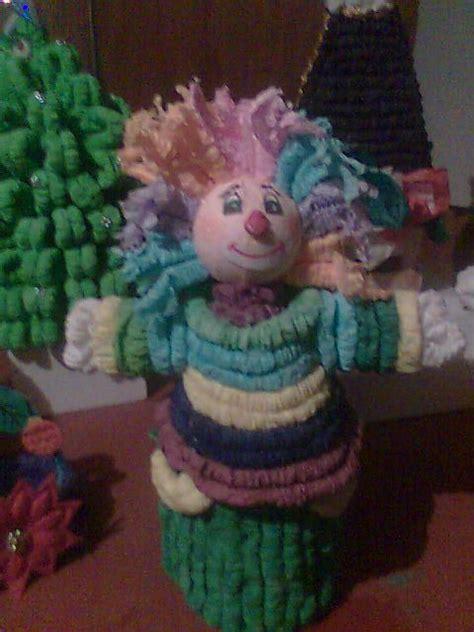 como decorar dulceros con papel china payaso dulcero papel crepe corrugado alovios pinterest