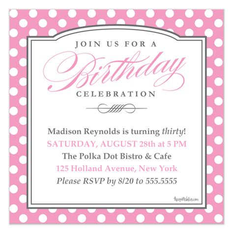 polka dot invitation template pink polka dots birthday invitation invitations