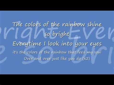 colors of the rainbow lyrics nightcore colors of the rainbow lyrics