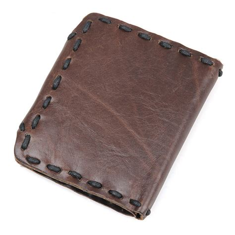 Handcrafted Leather Wallet - handmade leather wallet pocket purse