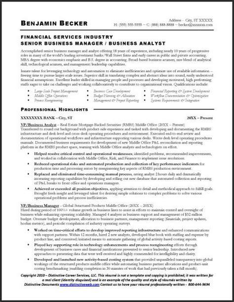 business analyst resume sample resume samples