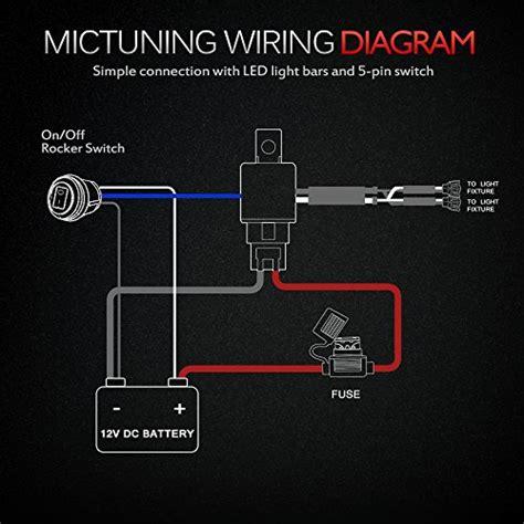 mictuning hd 12 600w led light bar wiring harness