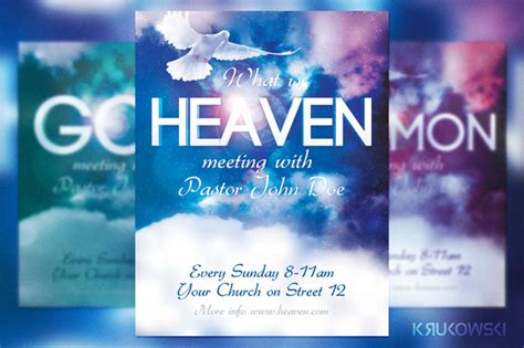 religious flyers template free heaven church flyer flyer templates on creative market