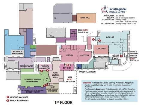 layout hospital hospital layout maps paris regional medical center