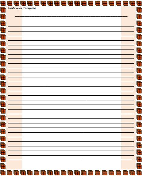 lined paper template for paper templates free word s templates