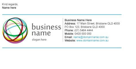email signature business card template how to enhance your signature line to reflect your company
