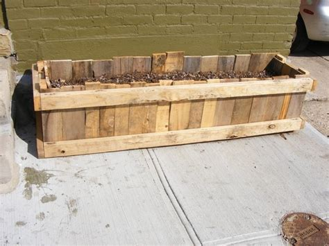 Planter Boxes Made From Pallets by Upcycled Pallet Skid Garden Planter Box By Brittford