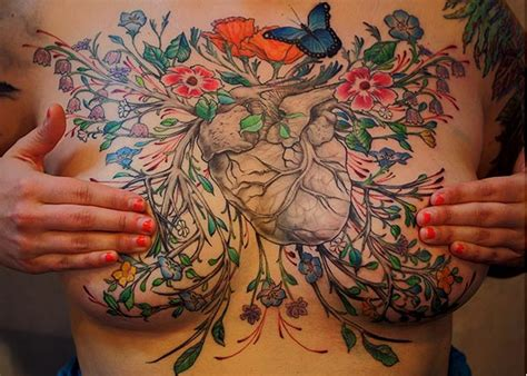 mastectomy tattoo artists cover breast cancer survivors scars with
