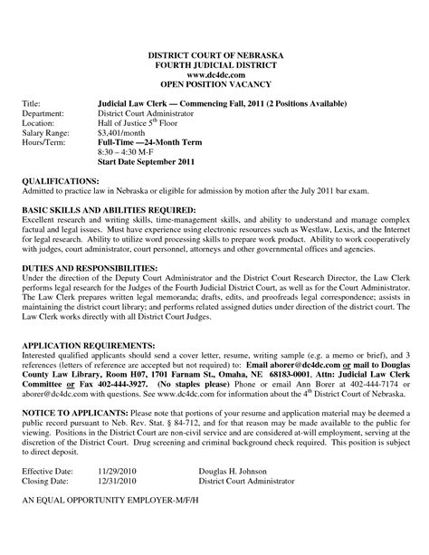 law clerk cover letter examples – 50+ Best templates