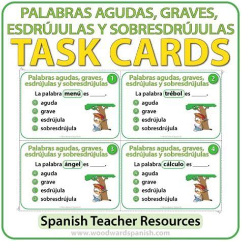 palabras agudas graves y esdrjulas youtube 361 best images about spanish teacher resources on