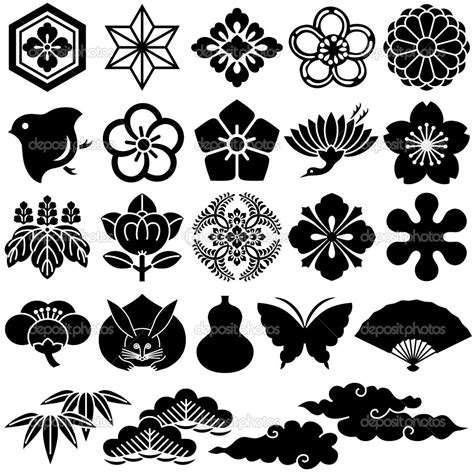 traditional japanese pattern vector japanese design patterns japanese traditional icons