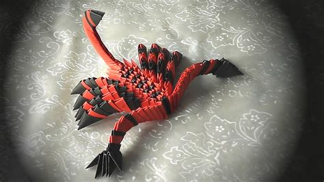 3d Origami Scorpion - 3d origami how to make a scorpion modular origami