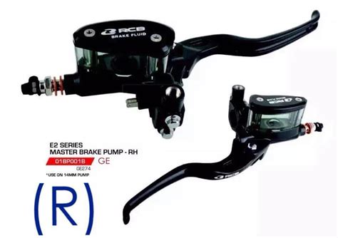 Racing Boy Rcb Rear Master Brake Charcoal racingboy rb master brake 14mm e 2 rh 01bp001b