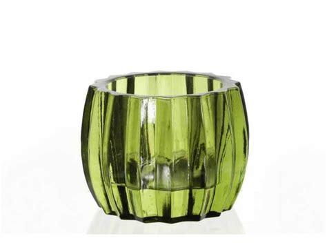glas teelichthalter teelichthalter glas curved 8x9 cm gr 252 n kochgeschirr