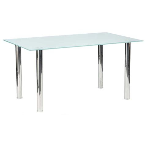 Tempered Glass Top Dining Table 150x90cm 10mm Tempered Glass Top Dining Table Decofurn Factory Shop