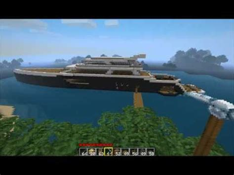 how to make a big yacht in minecraft minecraft luxury yacht 2 0 youtube