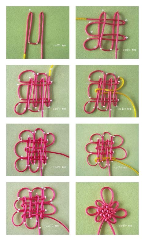 Knots Tutorial - panchang knot story and tutorial chineseknotting