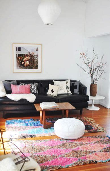 Black Leather Decor by 25 Best Ideas About Black Leather Couches On