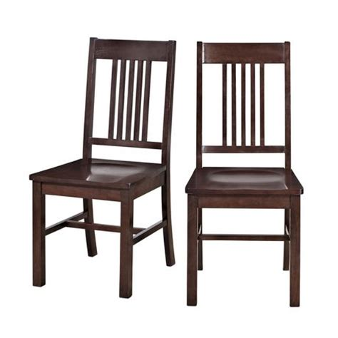 Dining Room Chairs Walmart Walker Edison Cappuccino Wood Dining Chair Walmart Ca