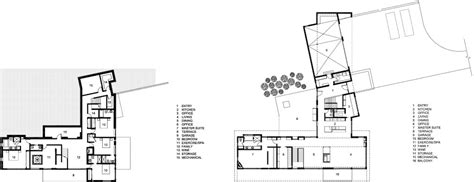 Ground & First Floor Plan, Hillside House in Jackson, Wyoming