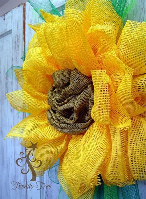 How To Make Paper Mesh - yellow sunflower paper mesh tutorial by trendy tree