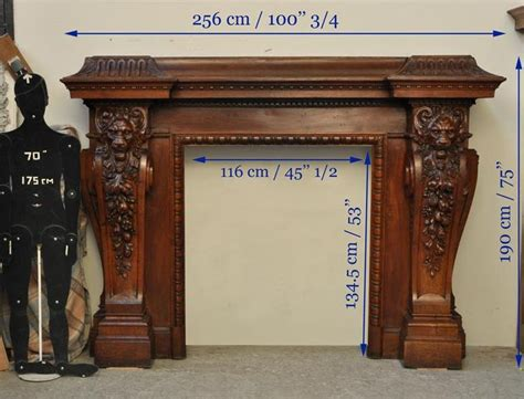 antique walnut fireplace with grotesques 74 best images about antique fireplace mantels on