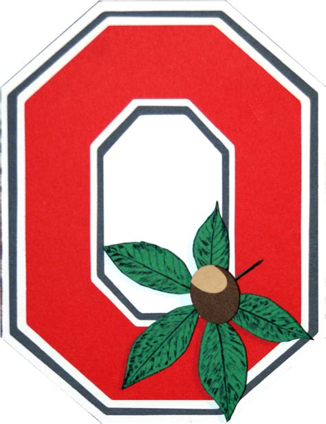 Ohio State Logo Outline by Ohio State Buckeyes Pictures Of The Logo Wennie In Ohio State Buckeye Card Diy