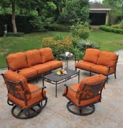 Cast Aluminum Patio Sets Grand Tuscany 6 Piece By Hanamint Luxury Cast Aluminum