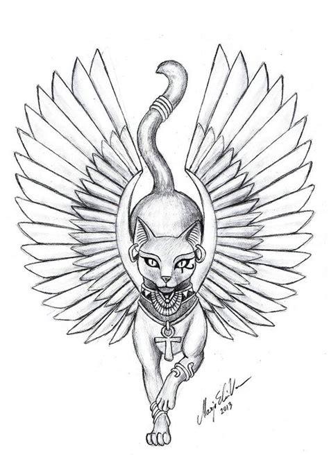 egyptian cat tattoo designs best 25 cat tattoos ideas on bastet