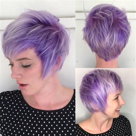 platinum pixi cut with brown highlights pixie haircut with purple highlights haircuts models ideas
