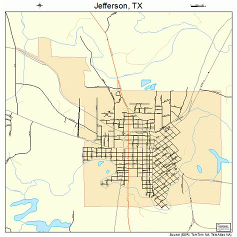 map of jefferson texas jefferson texas map 4837528