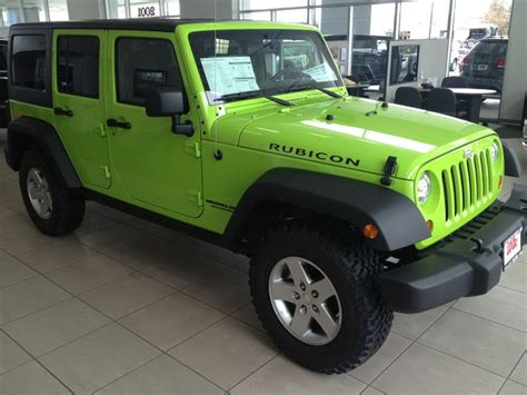 Gecko Green Jeep Wrangler Jeep Wrangler Rubicon In Gecko Green