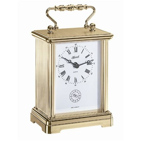 clock made of clocks hermle german made carriage clock 12111002100