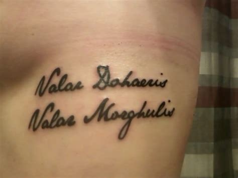 valar morghulis tattoo valar morghulis search tats
