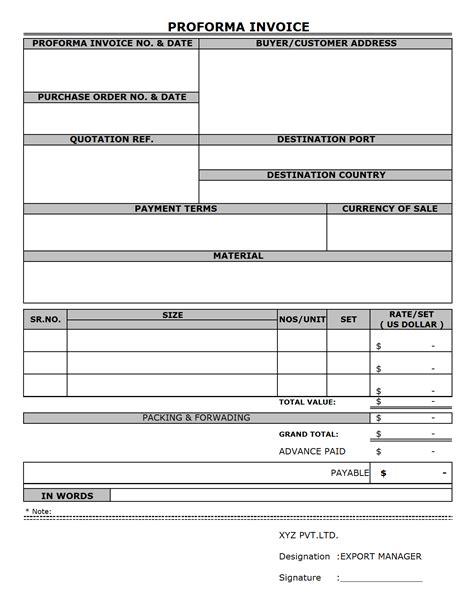 export proforma invoice sle robinhobbs info