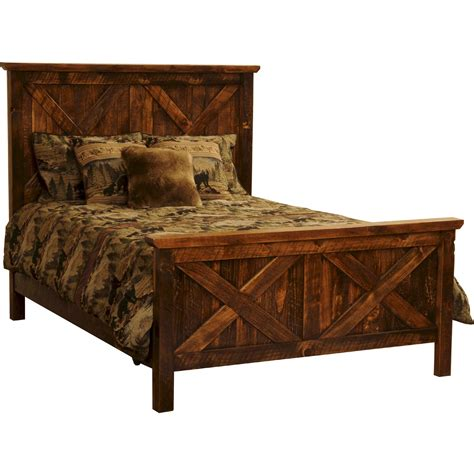 rustic beds rustic ranch pine barnwood bed the log furniture store