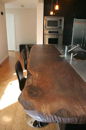 Wood Slab Bar Top by 44 Reclaimed Wood Rustic Countertop Ideas Decoholic