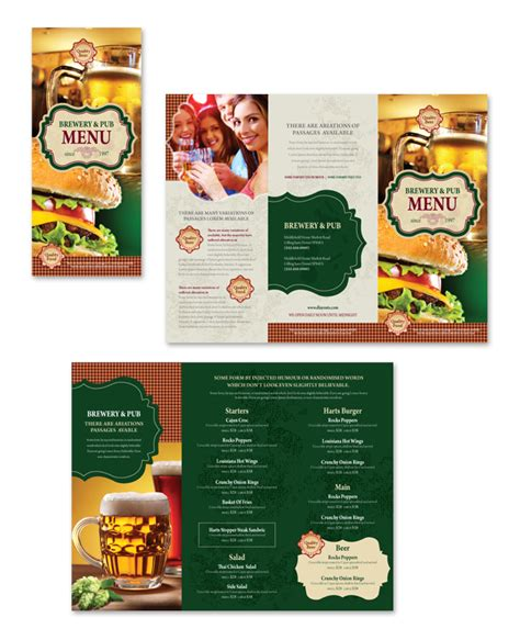 take out menu template brewery pub take out menu template dlayouts graphic