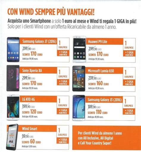 promozioni mobile wind offerte wind con smartphone a 0
