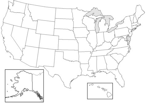 Usa Map States Outline by Blank Map Of The United States Labeled