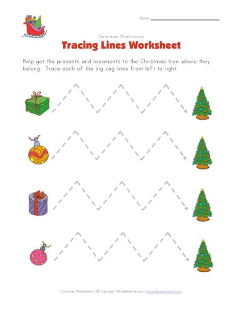 zigzag tracing pattern christmas tracing zig zag lines worksheet