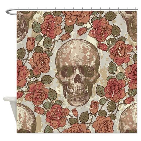 skull curtains uk skull and roses shower curtain by bestshowercurtains