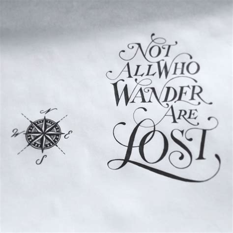 not all who wander are lost tattoo drew melton not all who wander are lost tattoos