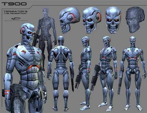 Terminator 3: The Redemption art images, storyboards ... T 1000000 Terminator