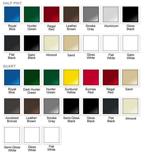 rust oleum spray paint color chart quotes