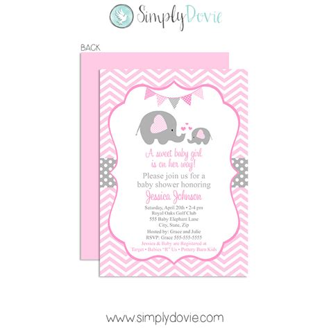 Baby Shower Invite by The Gallery For Gt Elephant Baby Shower Invitations
