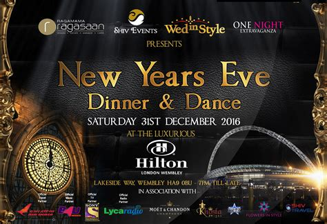 new year dinner 2016 new years 2016 dinner and wembley