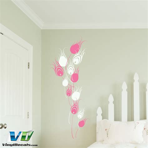 peacock feather wall sticker vinyldecals two color peacock feathers wall decal